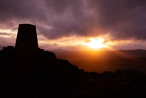 taponoth rhynie aberdeenshire scotland sunset sunrise landscape silhouette