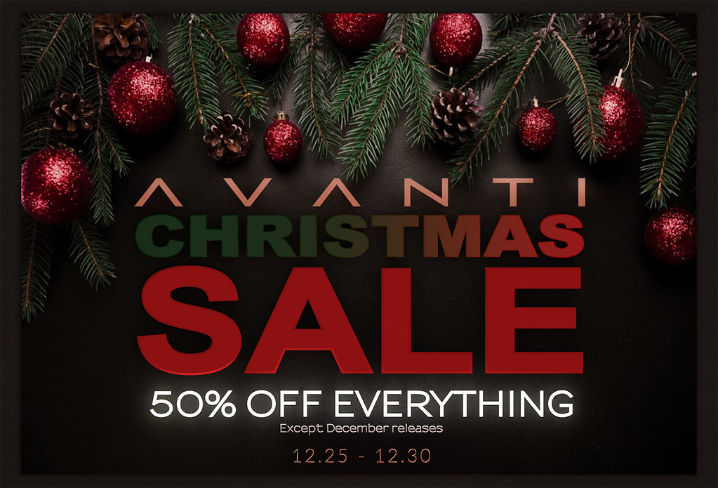 Avanti Christmas Holiday Sale!