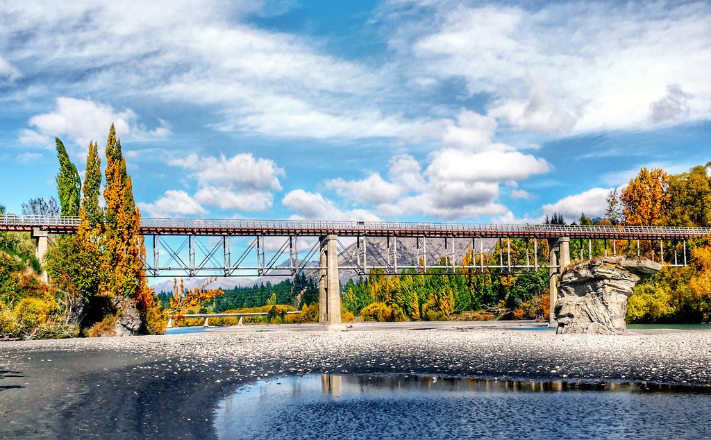 Old Lower Shotover Bridge. Queenstown.NZ