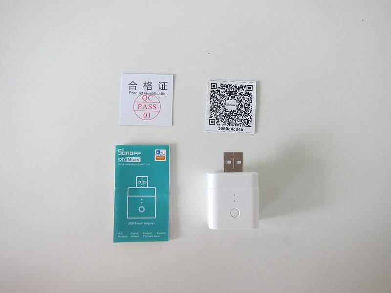 Sonoff Micro USB Smart Adaptor - Box Contents