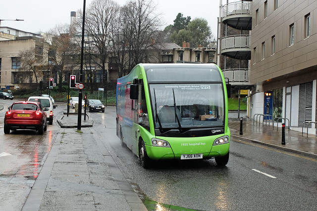 NHS Free Hospital Shuttle YJ66 AON, Bristol