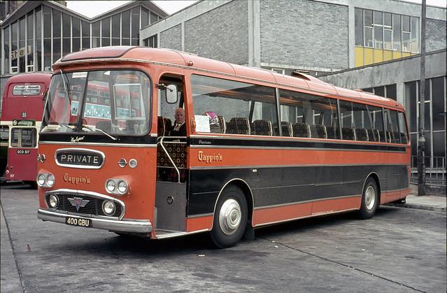 Tom Tappin . Didcot , Oxfordshire . 400GBU . Bretonside Bus Station , Plymouth , Devon .  September-1972