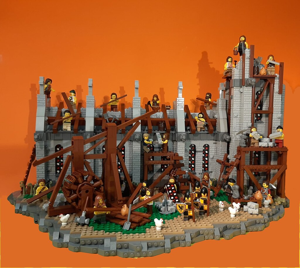 Medieval Church under construction