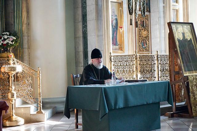 В Знаменском кафедральном соборе состоялся Епархиальный совет 23.12.2020