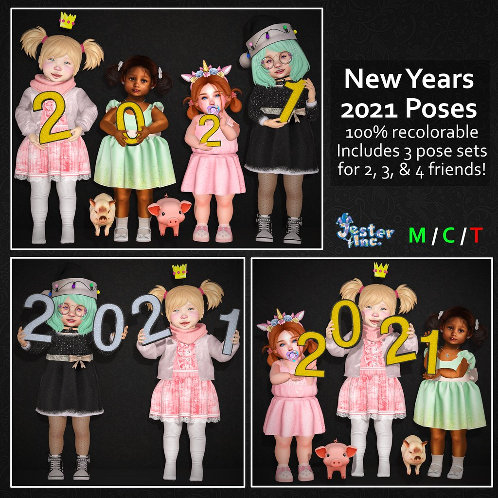 Presenting the New Years 2021 Poses from Jester Inc.