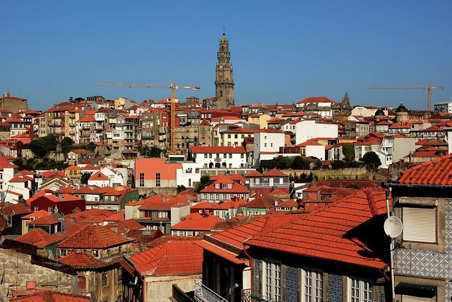 Clérigos Tower and Porto old city