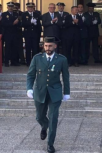 El agente agüimense de la Guardia Civil, Albano Caballero, en una imagen de archivo