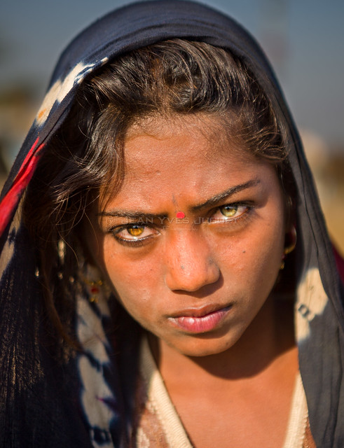Gypsy at the Pushkar Camel Fair (Rajasthan-India) - Gypsy à la Foire aux Chameaux de Pushkar (Rajasthan -Inde)