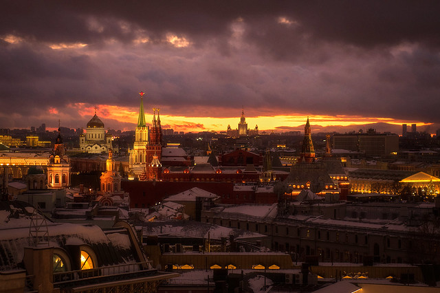 After Sunset in Moscow