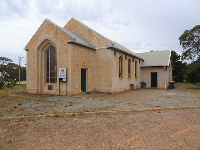 Yeelanna on Eyre Peninsula. The Methodist Church built in 1954 and now the Uniting Church.
