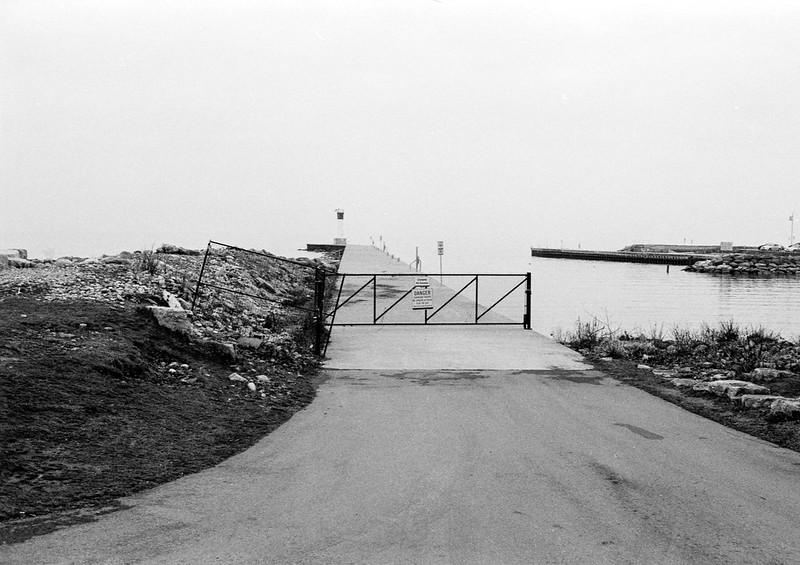 Fenced Off 16 Mile Creek Pier_