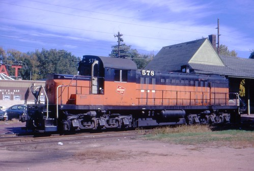 578 lays over at the Winona depot