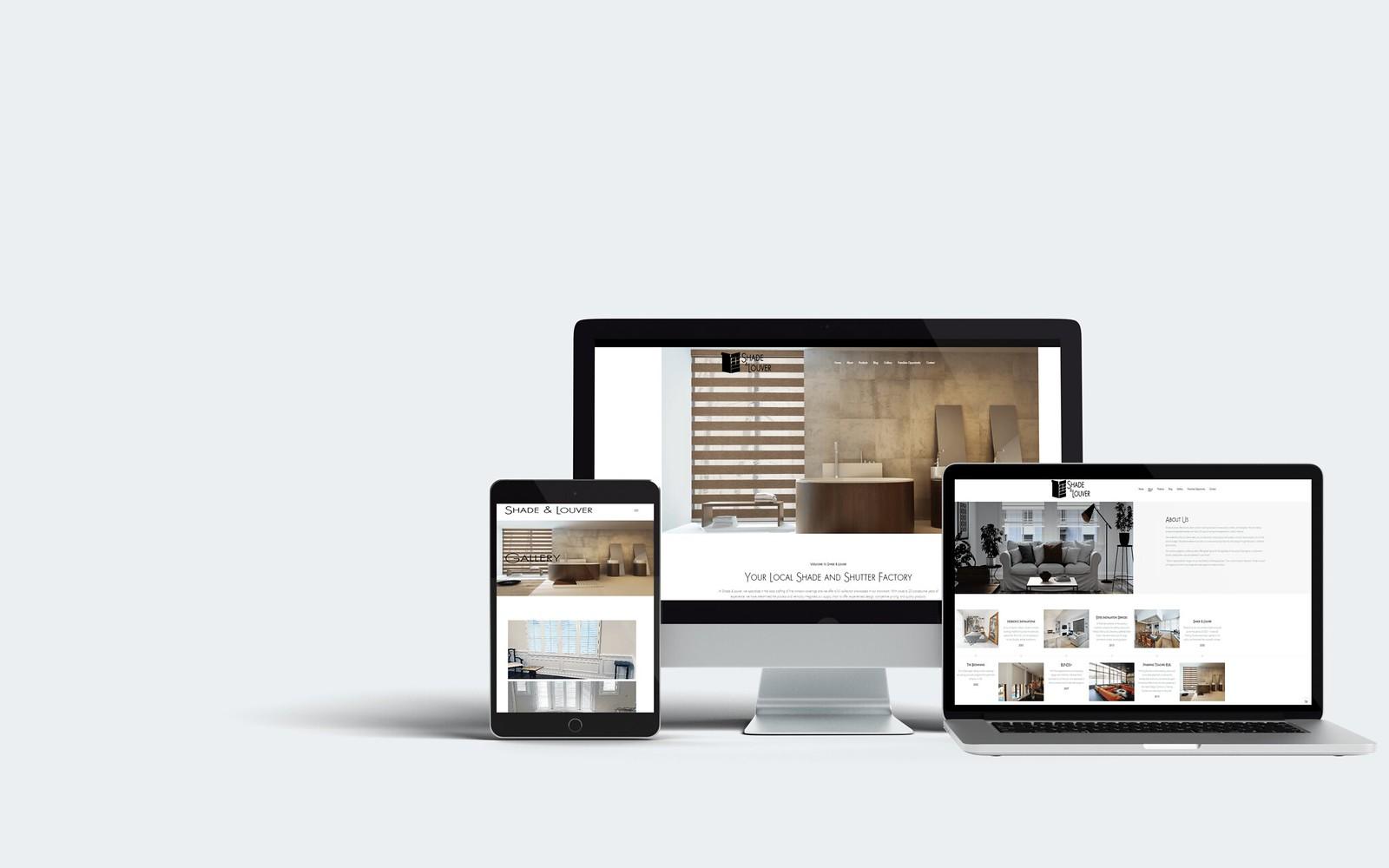 Shade & Louver WordPress Web Design Tuyen Chau