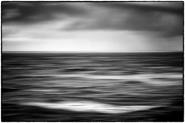 The Pacific; A Black & White Abstract.