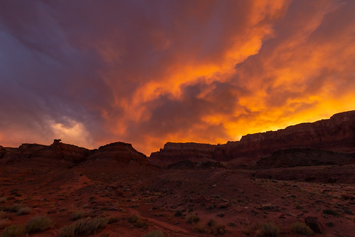 Stormy Fire in Marble Canyon