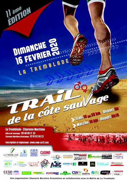 25 em compétition, Dimanche 16 fevrier 2020, Trail de la Cote Sauvage, Ronce les Bains, 18 km, 295em sur 1084.