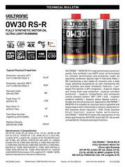 VOLTRONIC motor oil 0W30 RS-R