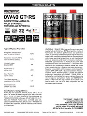 VOLTRONIC motor oil 0W40 GT-RS