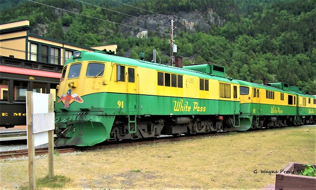 WP&YR No. 91 White Pass and Yukon Route General Electric GEX3341 Diesel-Electric Locomotive