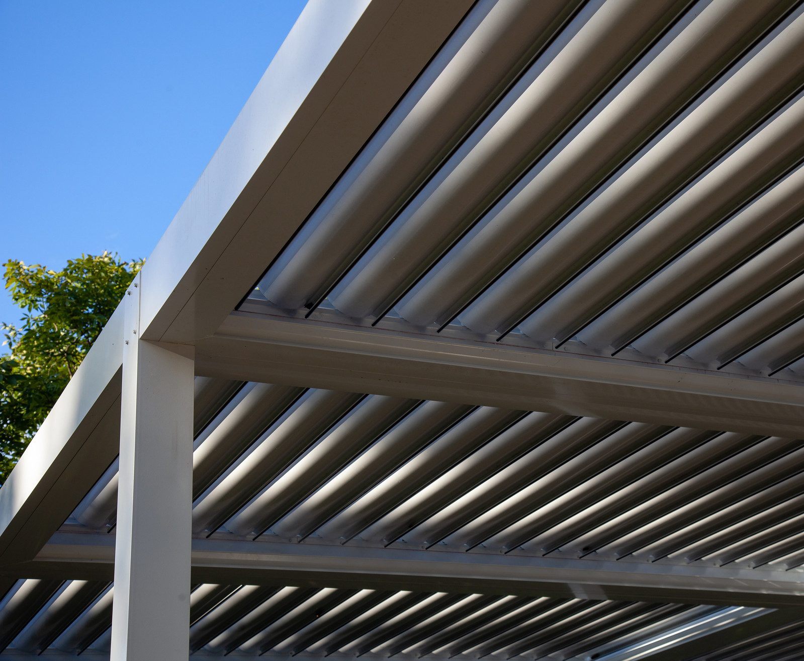 Bronze Roof-Louvers Open