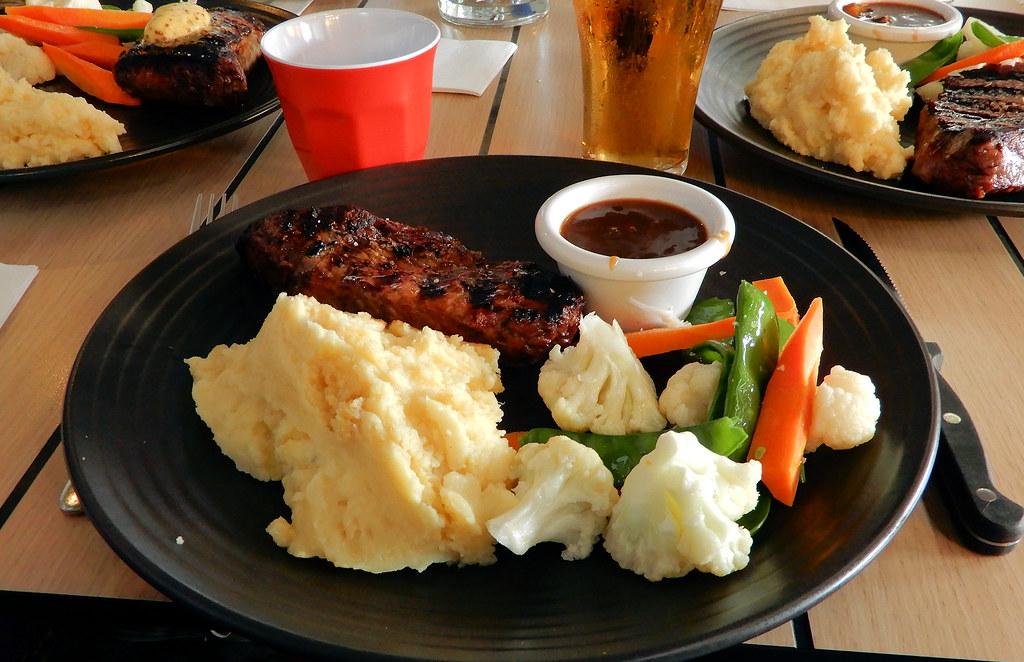 Rump Steak, Sir Joseph Banks Hotel, Banksmeadow, Sydney, NSW.