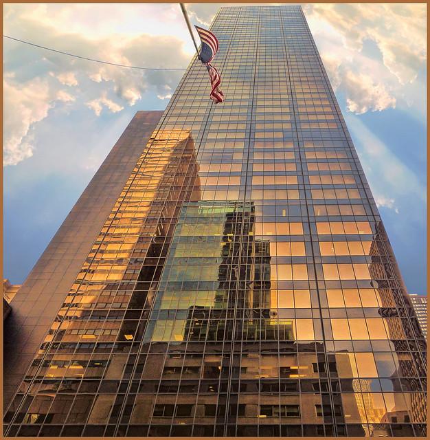 In N. York,  looking up (1)