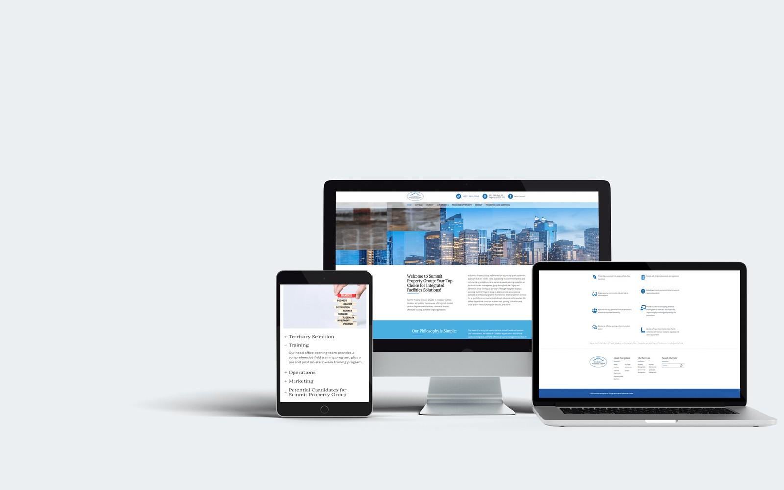 Summit Property Group WordPress Web Design Tuyen Chau