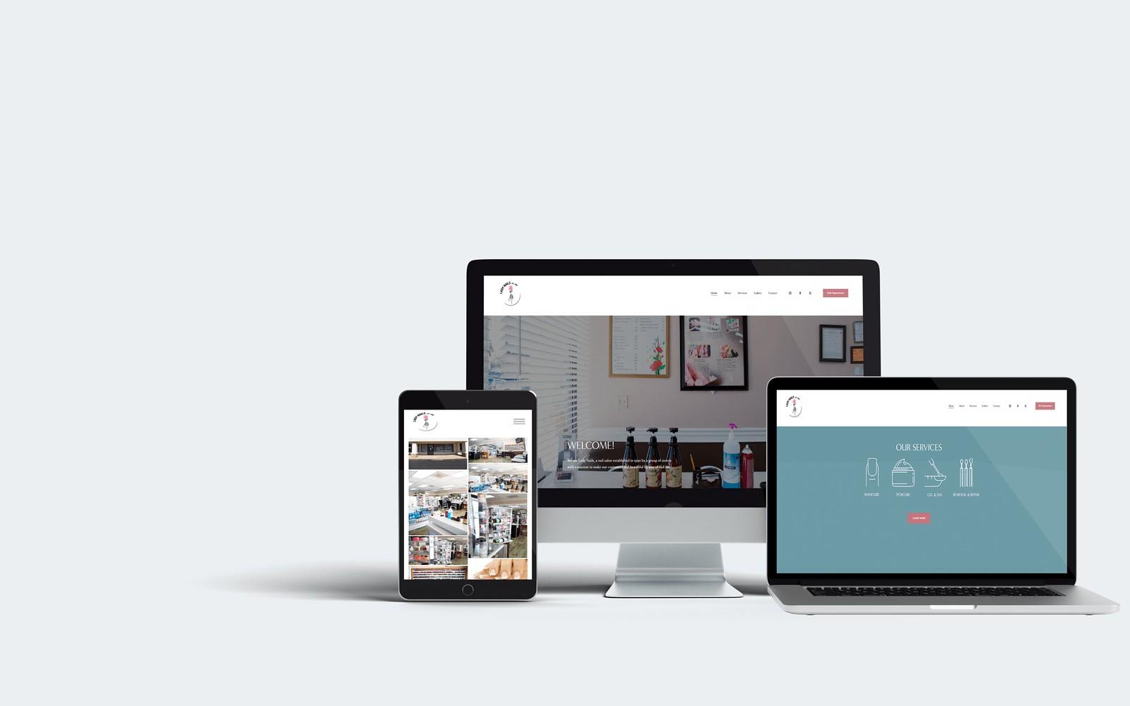 Lady Nails Squarespace Web Design Tuyen Chau