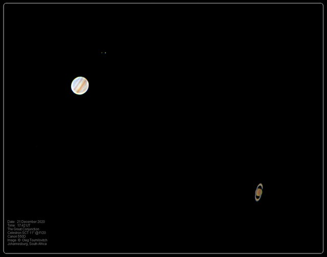 Jupiter and Saturn Great Conjunction (2020/12/21)