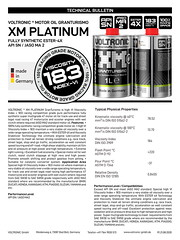 VOLTRONIC motor oil XM PLATINUM