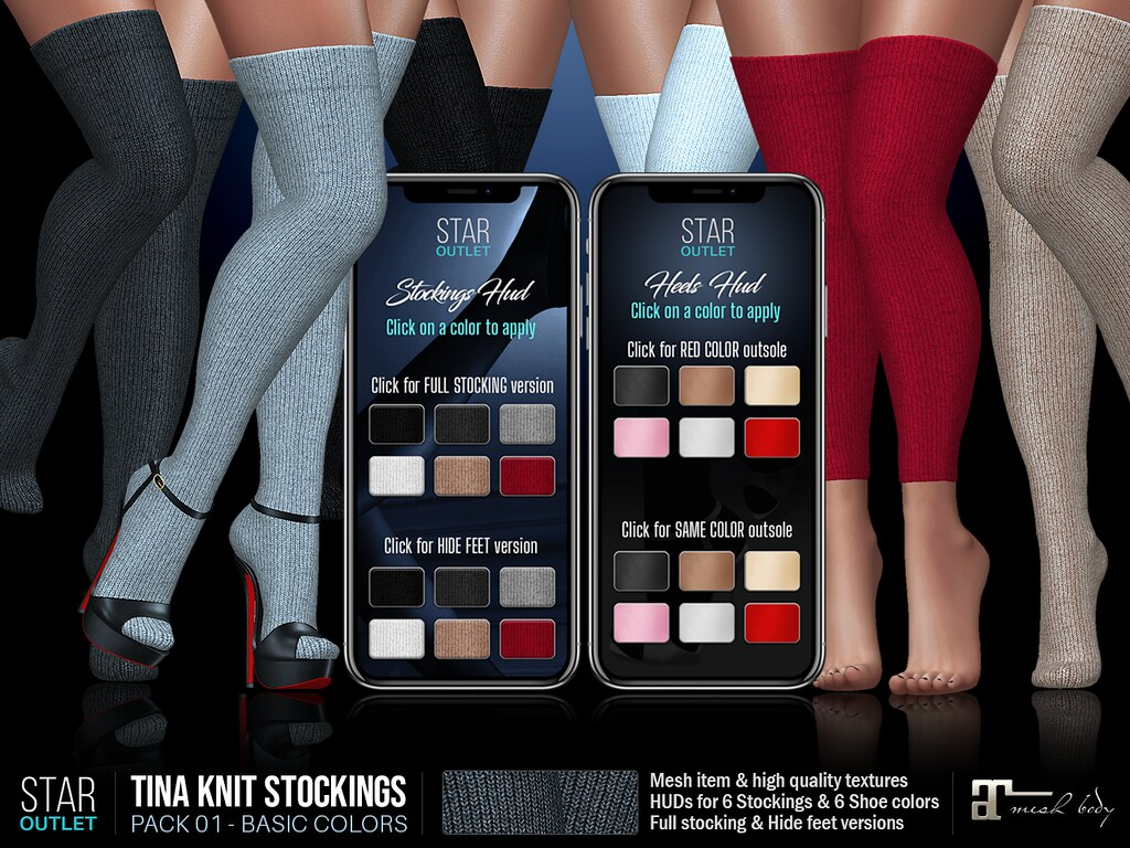 Star Outlet Tina Knit Stockings Pack 01 – Maitreya (Basic Color Pack)