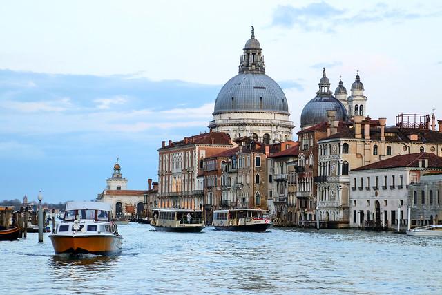 Happy Sunday ! / View on Canal Grande towards the church of Santa Maria della Salute, Venice