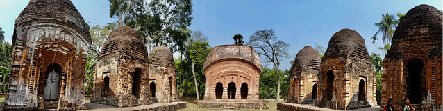 11-Shiva temple complex at Bhatpara village in Abhaynagar upazila, 1740