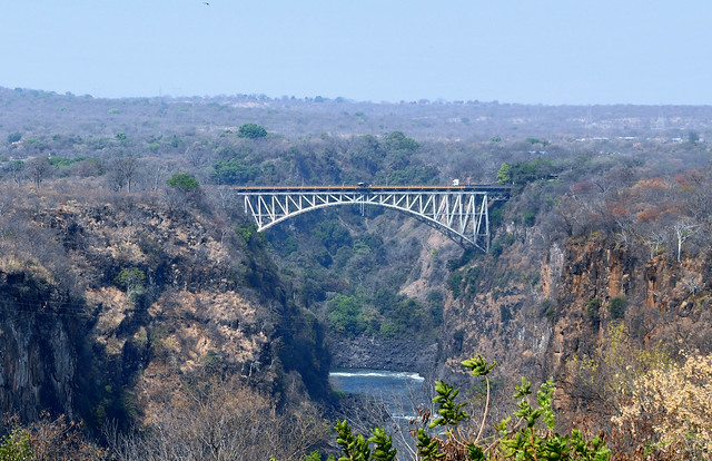 Victoria Falls bridge from Victoria Falls hotel.