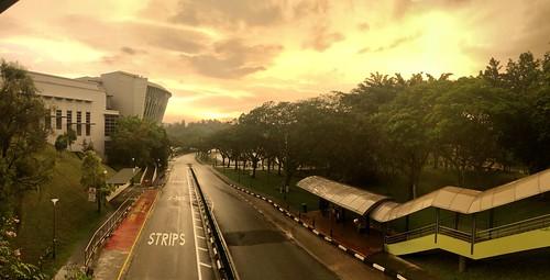 singapore light surreal ntu clouds sunset