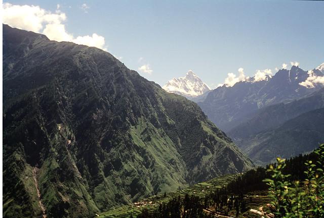 Auli, view to south, Nandadevi