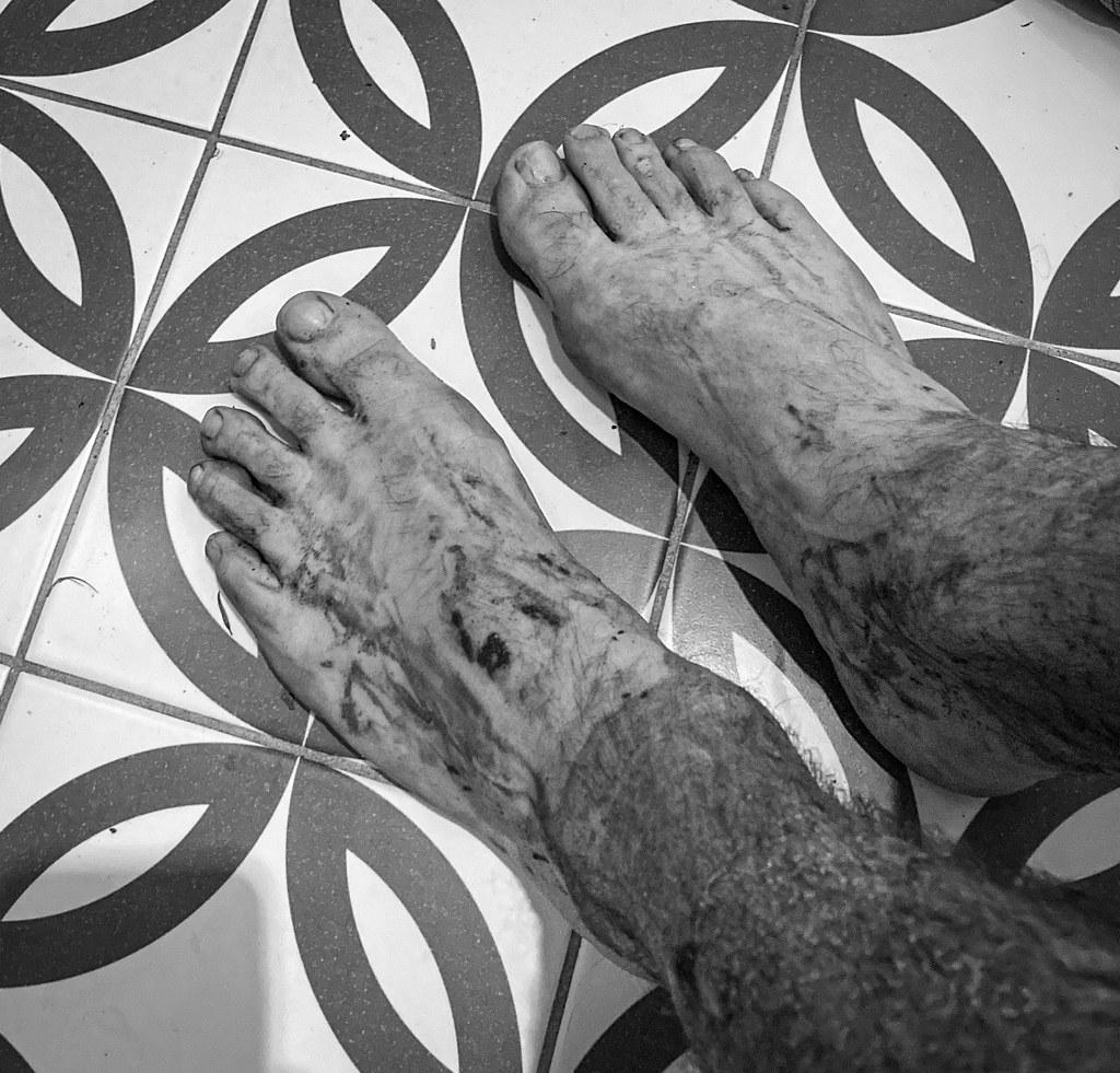 Post-run feet
