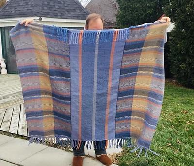 Diane's first woven blanket using acrylic/alpaca yarn is wonderful!