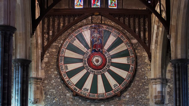 Arthurian round table, c1280/c1522 - Great Hall, Winchester Castle, Winchester, Hampshire, England.