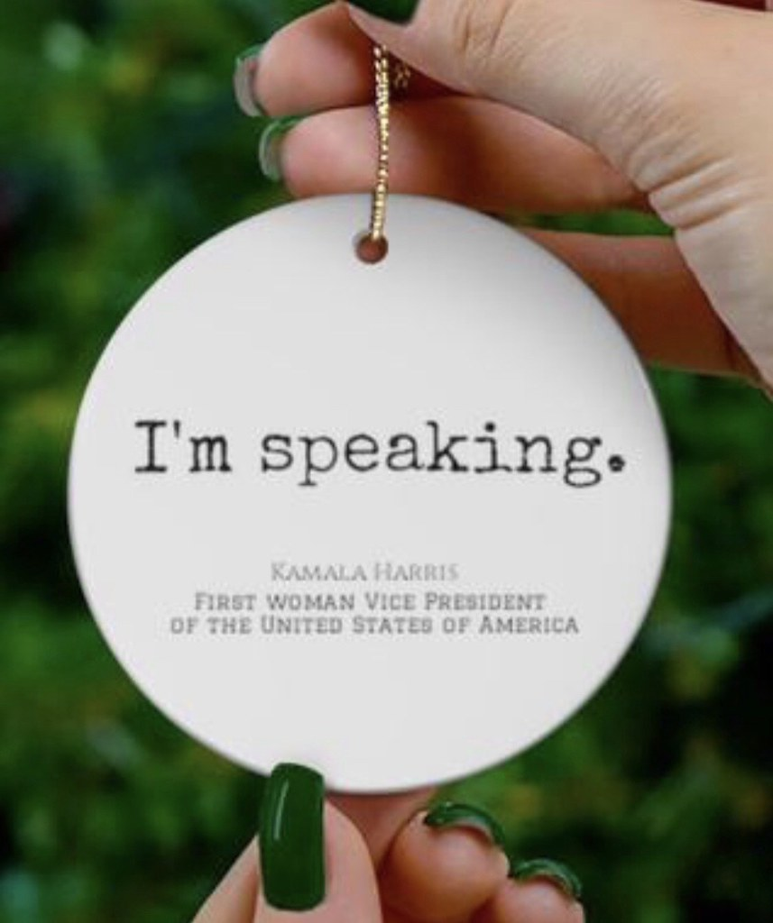 Kamala Harris I'm Speaking Ornament