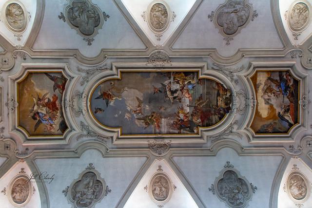Armchair Traveling - Ceiling of Santa Maria del Rosario, Venice, Italy
