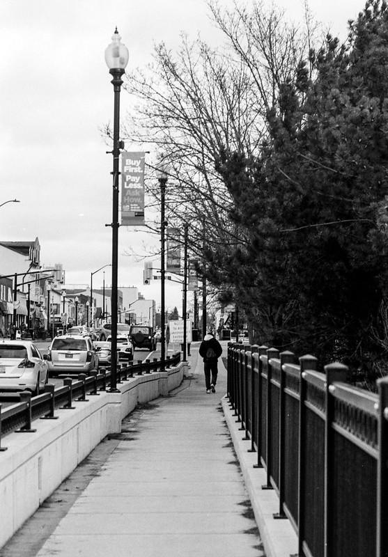 Walking over the Bridge to Downtown Oakville_