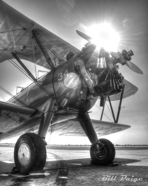 Biplane at Sunset