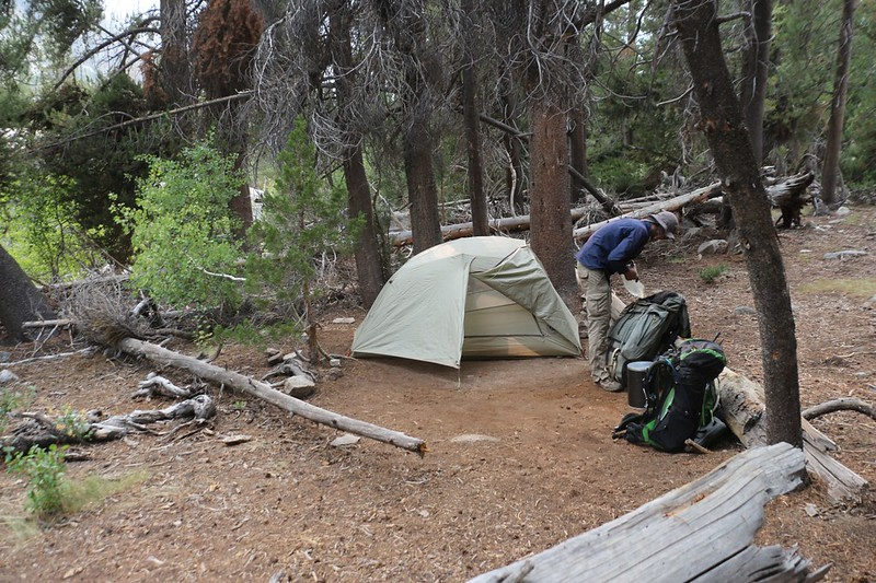 After a long day of hiking, we made camp next to Palisade Creek on the Pacific Crest Trail