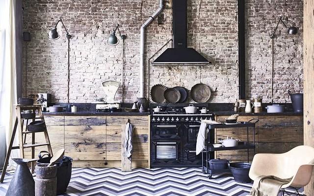 Rustic Brick Kitchen