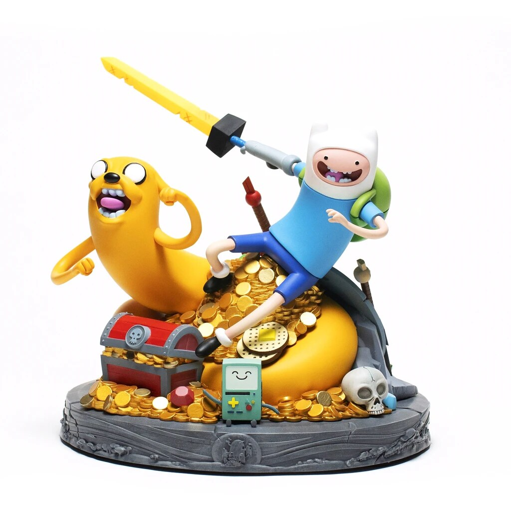 十周年紀念!MONDO《探險活寶Adventure Time》老皮&阿寶 雕像 精緻細節充滿彩蛋