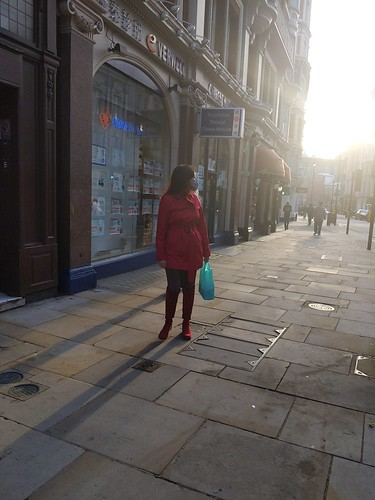 woman on Shaftesbury Avenue