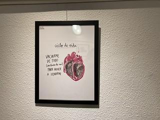 Lámina en la exposición 'La otra poesía' de Marta Villela