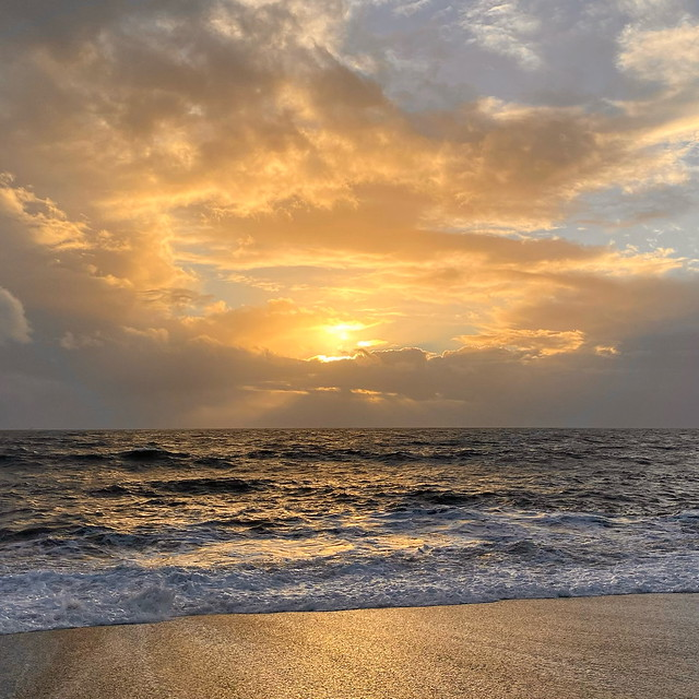 Sunset at Hive Beach, Burton Bradstock, Dorset