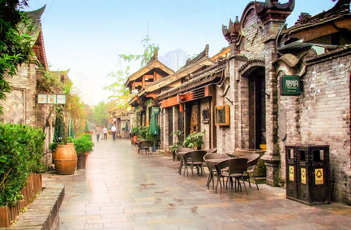 Sidewalk cafe, China